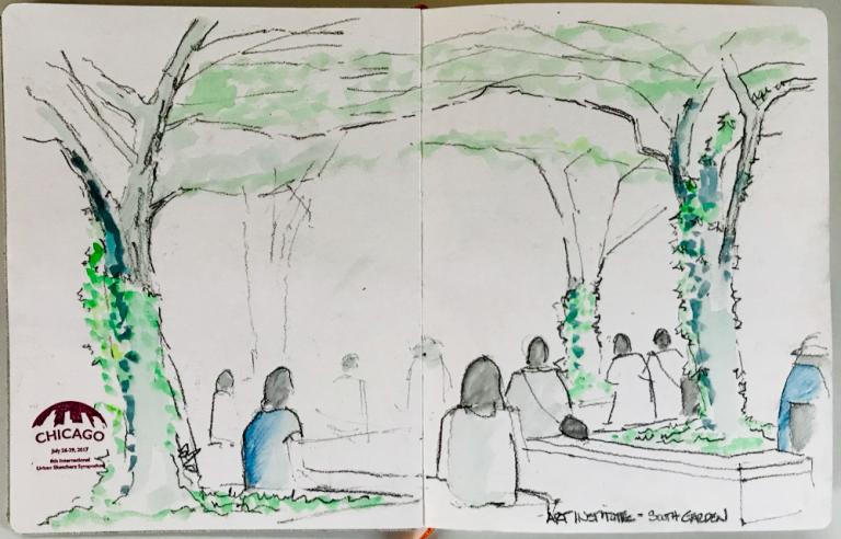Chicago Art Institute – South Garden